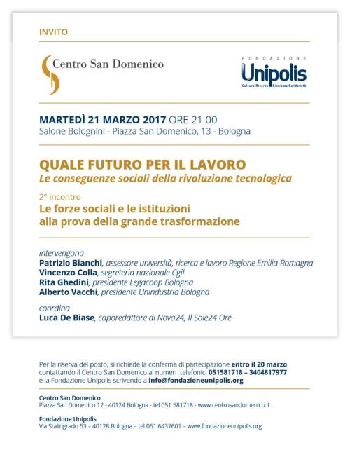 Quale futuro per il lavoro? Incontro a Bologna a cura di Unipolis