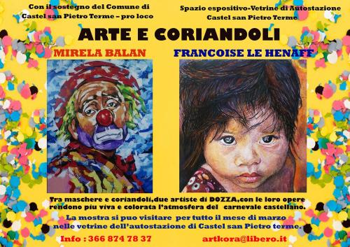 Continua la mostra Arte e Coriandoli di Mirela Balan e Francoise Le Henaff