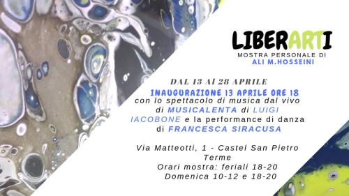 """Sabato 13 si inaugura la mostra """"LiberArti"""" di Ali M. Hosseini"""