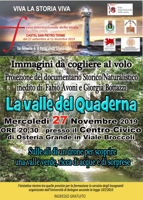 """mercoledi 27 a Osteria """"La valle del Quaderna"""""""