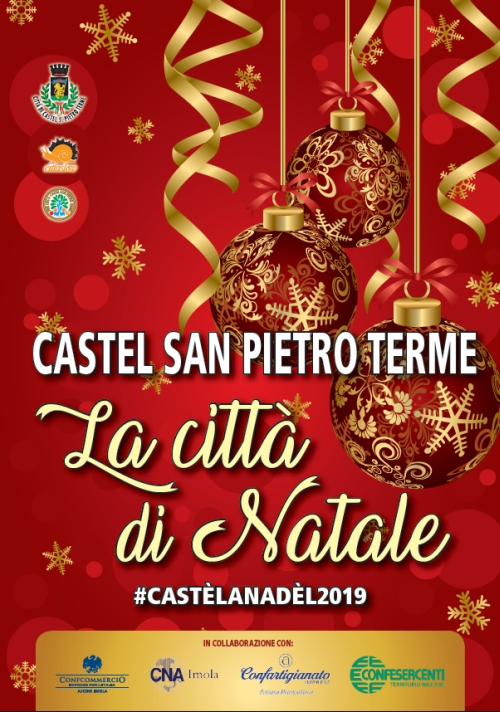 Domenica 1 si accendono le luci di Natale a Castel San Pietro Terme