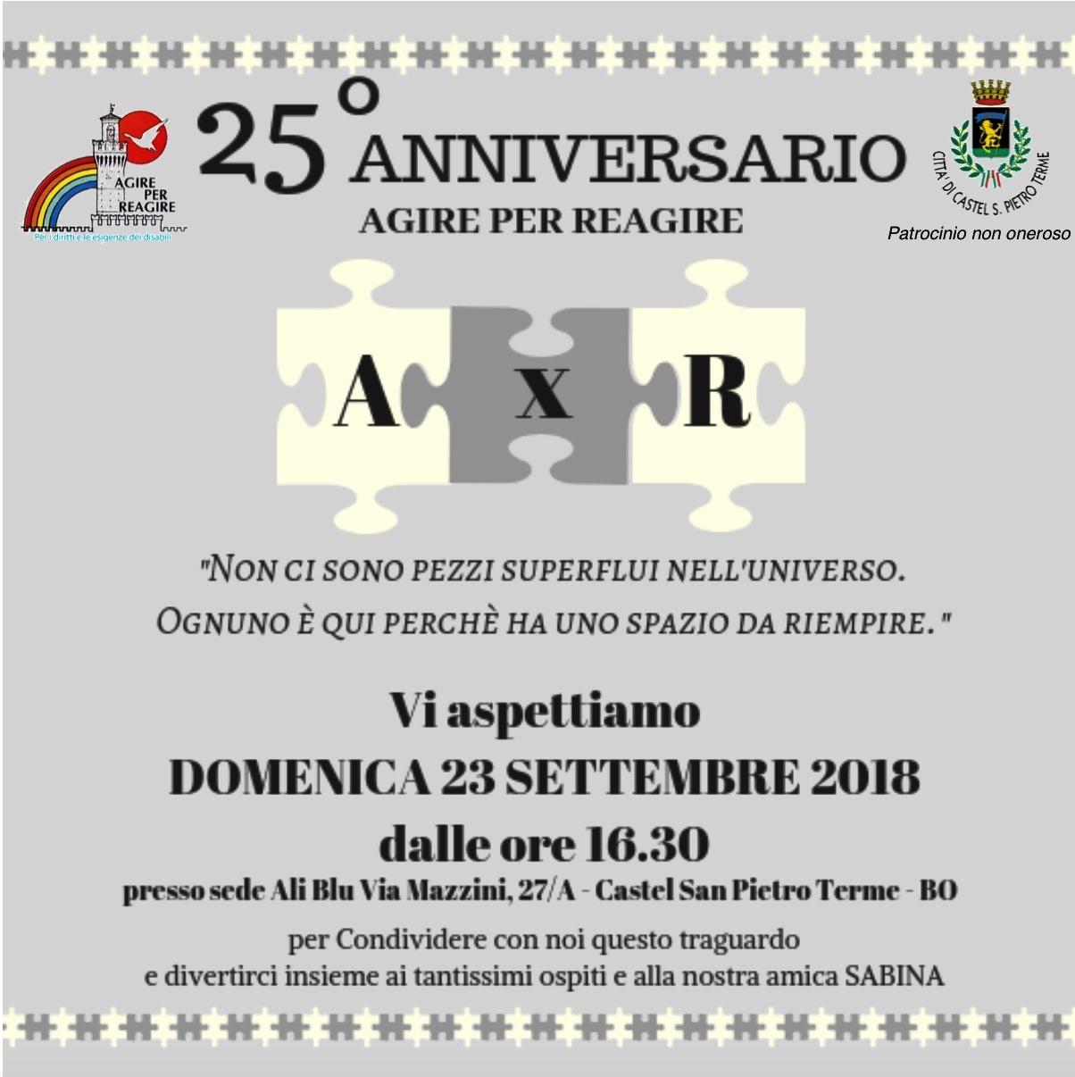 3187f7c3ac Festa del 25° Anniversario di Agire per Reagire